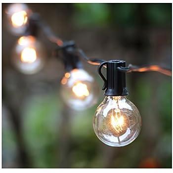 Amazon Com Deneve Outdoor String Lights With 15 E26