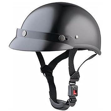 Casco Biker de color negro brillante para shows y concentraciones de moto custom