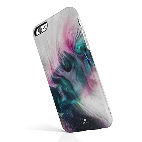 iPhone 6/6s case Marble, Akna Collection High Impact Flexible Silicon Case for both iPhone 6 & iPhone 6s [Purple Agate] (Purple Agate)