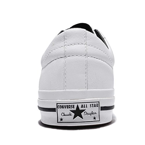 Converse Mens One Star, White/Black, 10 M US