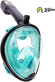 LeWave Snorkel Mask Full Face – Snorkeling Set Anti-Fog & Anti-Leak Diving Mask – 180° Panoramic View, Cam