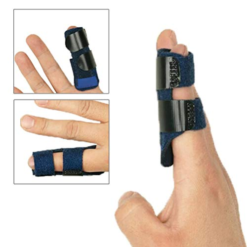 Finger Splint - Finger Straightening Brace Adjustable Built-in Aluminium Support Relieve Pain Finger Tendon Orthodontic Fracture Fixator Pain Relief for Medical Trigger Finger Treatment Splint Home ()