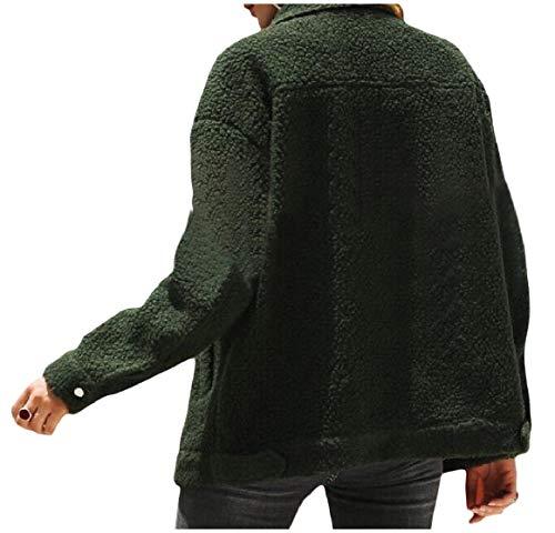Abbassare Militare Delle Cachemire Rkbaoye Falsificazione Collare Di Verde Donne Giacca Della Casuale Giacche Di Lana Maglione Tasca wqawnCxX