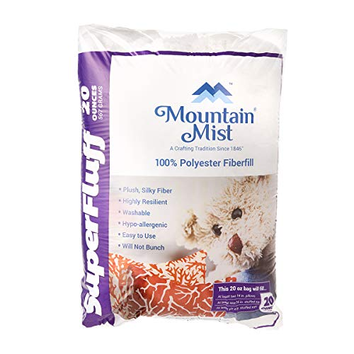 (Mountain Mist B00454 SuperFluff Polyester Fiberfill Stuffing: 20 Ounces, Multicolor)