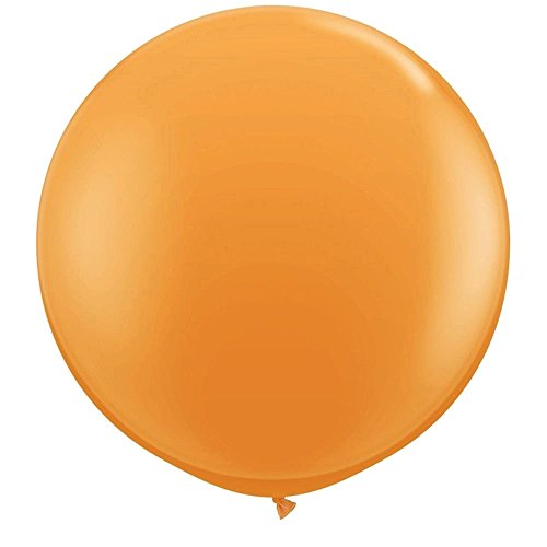 NYKKOLA 36 Inch Giant Latex Balloon (Premium Helium Quality),6 Pack Big Metallic Orange Balloons (36 Inch Latex Balloon Peach)