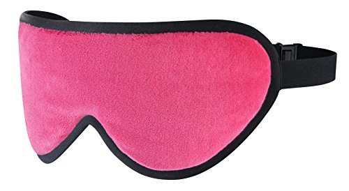 Masters of Mayfair Luxury Silk Sleep Mask Blackout Eye Shade Infused with Lavender. Designed for Comfort and Travel (Pink)