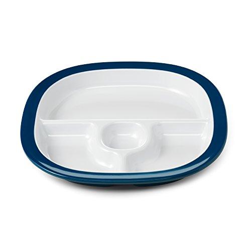 OXO Tot Melamine Divided Plate - Navy