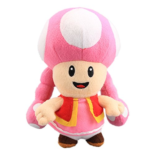 uiuoutoy Super Mario Bros. Toadette Plush Toy Stuffed Doll 7''