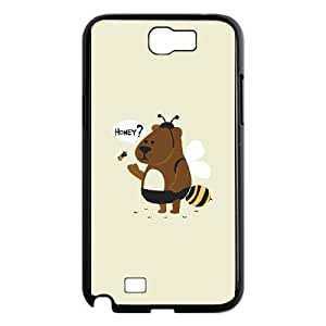 Good Phone Case With High Quality Mischievous Animals Pattern On Back - Samsung Galaxy Note 2