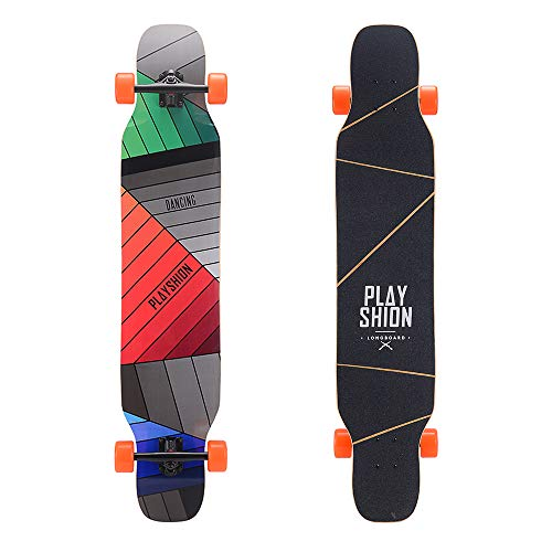 Playshion 46 Inch Dancing Longboard Cruising Freestyle Longboards Piano Key