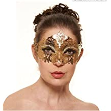 Gold Metal Mask for Women Masquerade Mask Shiny Metal Rhinestone for Party / Ball Prom /Wedding