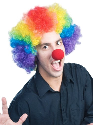 Enigma Wigs Men's E Clown(Economy), Multi, One (Adult Clown Wig)