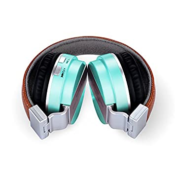 YOPEEN Audífonos Auriculares inalámbricos Bluetooth auriculares estéreo de auriculares de teléfono equipo de música de uso general Tarjeta Sd,Verde.
