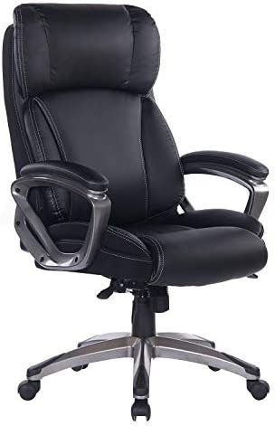 BOSMILLER Office Chair Executive Chair Swivel Chair Computer Chair seat Height Adjustment Office Chair Upholstery 9078-Blk