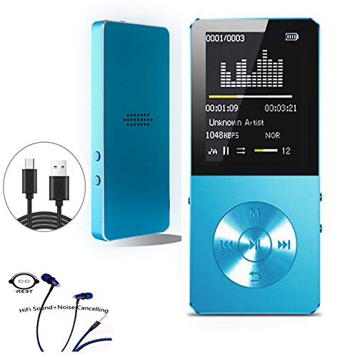 Mp3 Player,  Frehovy MP3 Music Player ,Portable MP3 Player(Expandable Up to 128GB), Music Player/Voice Recorder/FM Radio with HD Headphone