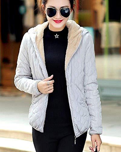 A Unicolore Casual Quilting Blouson Mode Femme Veste Automne Hiver El Capuche Longues A Fashion Gaine Chic Capuche Manches wzZqAFzS