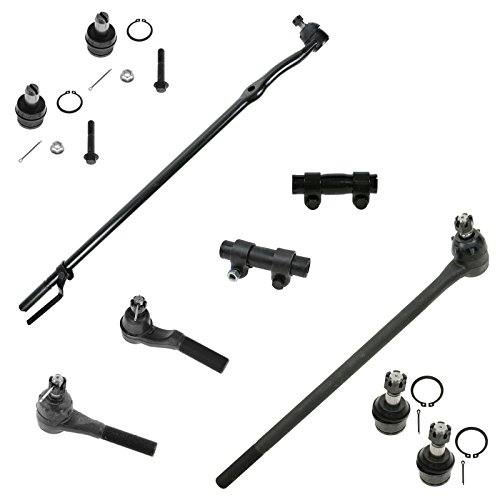 Front Ball Joint Tie Rod Drag Link Adjuster Sleeve Steering Suspension Kit 10pc for Ford F150 Truck (Link Front Tie Rod Drag)