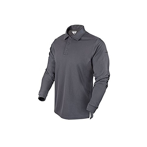 Condor Outdoor Performance Long Sleeve Tactical Polo Shirt (Large, Graphite) (Condor Outdoor Tactical)