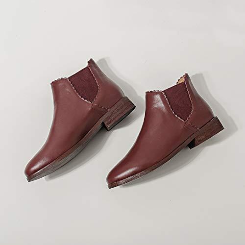 MAYPIE MAYPIE MAYPIE Senza Donna Elastico Stivali Rosso Rosso Rosso Rosso Tacco Toadad Leather zn4gIn6q