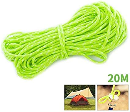 Reflective Paracord Tent Camping Hiking Guy Line Rope Cord 2.5mm 50ft Black