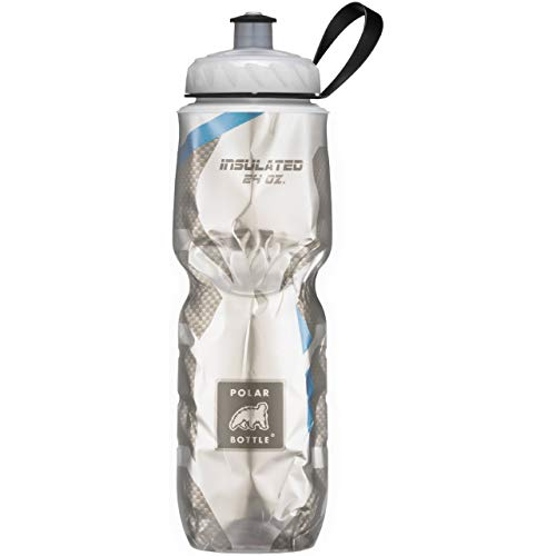 Price comparison product image Polar Bottle Insulated Water Bottle - 24 oz,  Carbon Fiber Blue