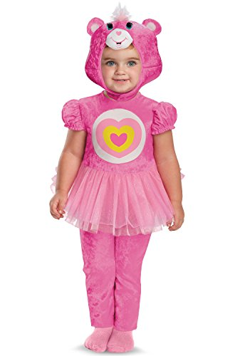 Care Bears Costume Toddler (Disguise Costumes Care Bears Wonderheart Bear Infant Classic, Pink/White/Yellow, 12-18 Months)