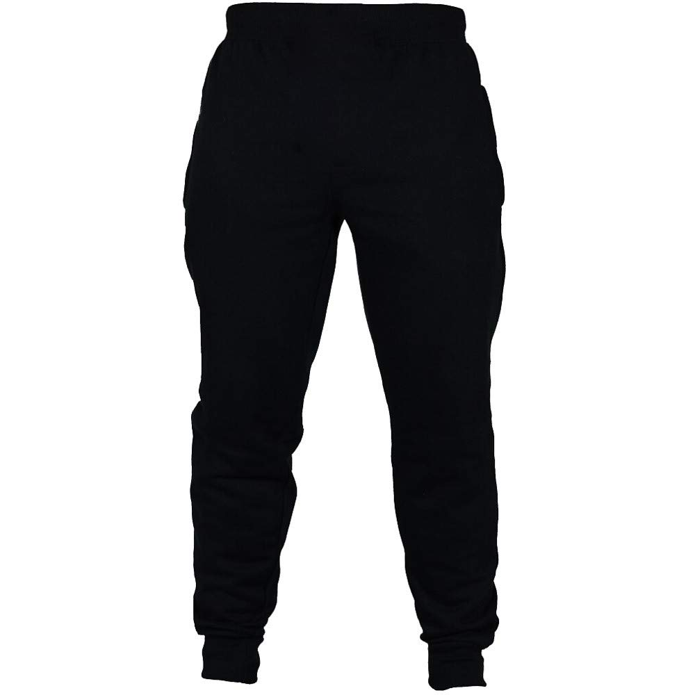 Sumen Mens Autumn Joggers Solid Color Casual Drawstring Sweatpants Active Elastic Waist Trousers