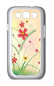 Samsung Galaxy S3 Case and Cover- Cool Flowers Grass Custom PC Case for Samsung Galaxy S3 / SIII / I9300 White