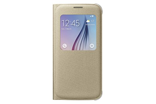 Samsung S-View Flip Cover for Samsung Galaxy S6 - Gold Fabric