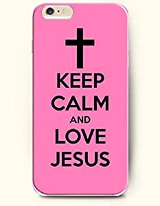 iPhone 6 Case,OOFIT iPhone 6 (4.7) Hard Case **NEW** Case with the Design of KEEP CALM AND LOVE JESUS - ECO-Friendly Packaging - Case for Apple iPhone iPhone 6 (4.7) (2014) Verizon, AT&T Sprint, T-mobile