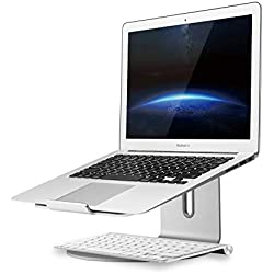 UPERGO Aluminum Laptop Stand with Swivel Base(AP-2S), Silver
