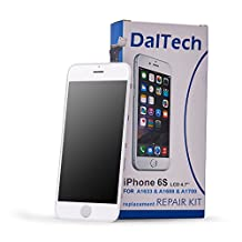 """iPhone 6S LCD Screen Replacement - by [DalTech] iPhone 6S 4.7"""" White LCD Screen Display Digitizer Frame Assembly Replacement Kit with 11 Free Tools + Screen Protector (White)"""