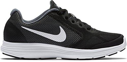 Boys' Nike Revolution 3 (GS) Running Shoe Dark Grey/White-Black-Pure Platinum