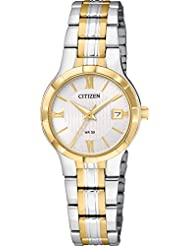 Citizen Womens Quartz Stainless Steel Casual Watch, Color:Two Tone (Model: EU6024-59A)