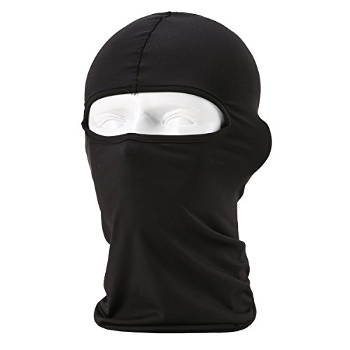SUNLAND Lycra Fabrics Ski Face Mask Motorcycle Cycling Bike Bandana Hiking Skateboard Balaclava (Black)