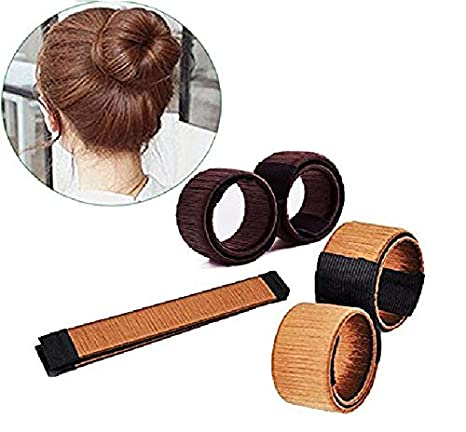 2 Magic DIY Lady Girls Silk Hair Donut Bun Maker French Twist Tool Curler Former Shaper Imixshopps