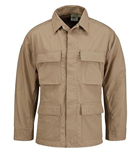 Propper BDU Coat Short Length 100 Percent Cotton Khaki SS by Propper