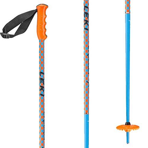 LEKI Checker X Ski Pole, Blue/Orange, 100cm