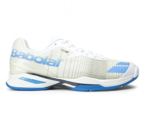 Babolat Men's Jet All Court Tennis Shoes (White/Blue) (9.5 D(M) US)