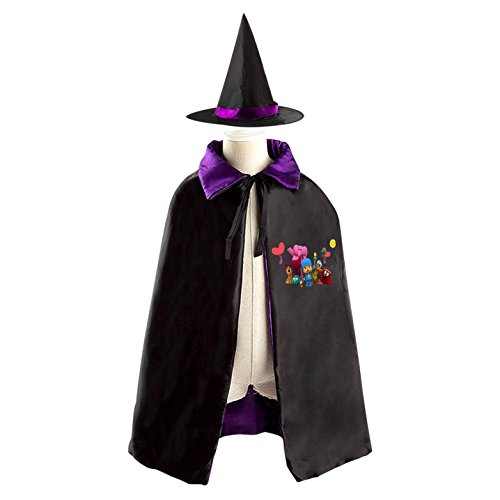 Narrator Costume For Girls (Pocoyo Children Costumes for Halloween Sorcerer/Witch Costume with Hat and Cloak)