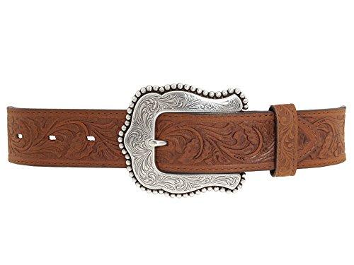 Tony Lama Women's Layla Leather Belt Brown 32