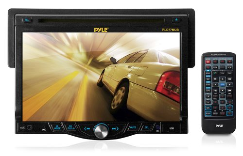 Pyle PLD77MUB 7-Inch Bluetooth Touch Screen Receiver Head-Unit with CD/DVD Player and USB/SD Card Readers