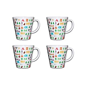 OLPRO Outdoor Leisure Products Melamine Camping Mugs Travel Cups Pack of 4 OLPRO Berrow Hill Design