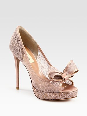 7cdcaab8cbd Amazon.com | Women's Valentino Lace Couture Bow Pumps - Black | Shoes