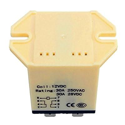 SODIAL(R) 1x JQX-30F 2Z DC 12V Coil 30A 250V AC Power Relay 8 Pin DPDT 5.25x3.5x4cm