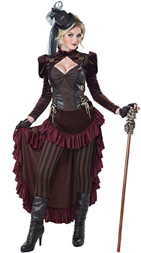 California Costumes Women's Victorian Steampunk Costume, Brown, X-Large