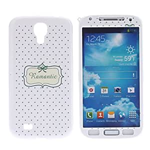 Dots Pattern Protective Hard Front and Back Case for Samsung Galaxy S4 I9500