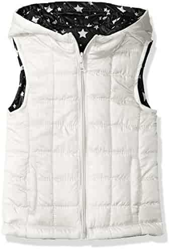 Urban Republic Girls' Light Weight Puff Reversible Vest