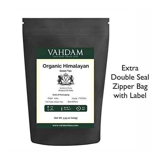 VAHDAM, Himalayan Green Tea Leaves (50+ Cups) I 100% NATURAL Green Tea I POWERFUL ANTIOXIDANTS I Best for Detox I… 7 SATISFACTION GUARANTEED - 100% MONEYBACK GUARANTEE - If you don't like the tea, we will issue a 100% REFUND immediately. No Questions Asked.