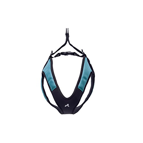 Gooby Escape Free Easy Fit Dog Harness Dogs that Like to Escape Their Harness, Turquoise, Small by Gooby